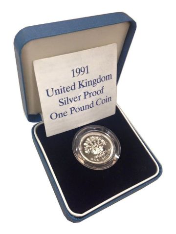 1991 Silver Proof One Pound Coin